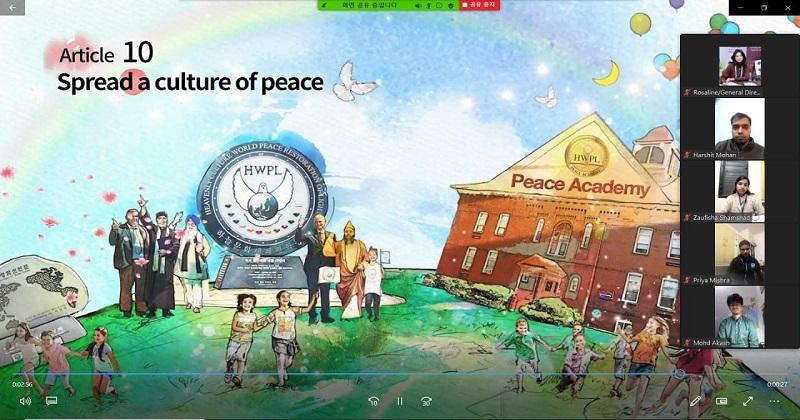 ডিপিসিডাব্লুর হ্যান্ডবুকে আন্তর্জাতিক শান্তি আইনের আলোচনা