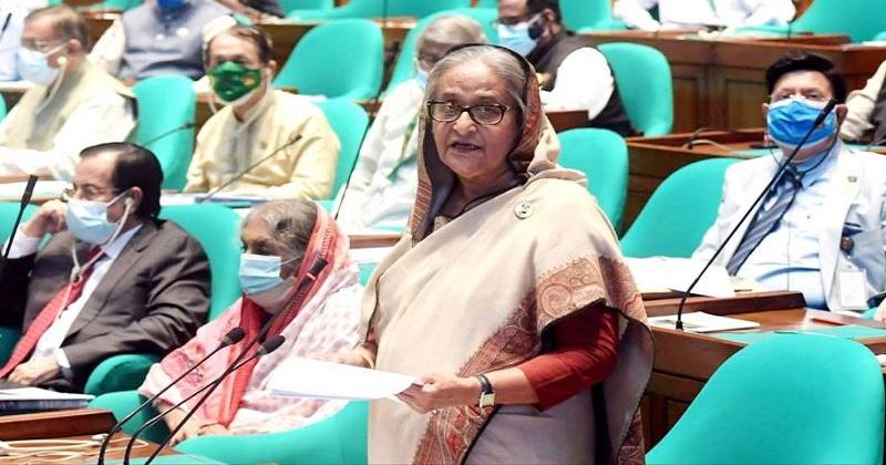 জাতীয় সংসদে প্রধানমন্ত্রী শেখ হাসিনা।